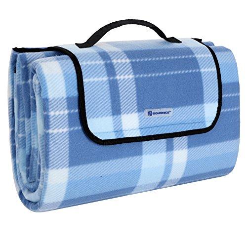 songmics 200 x 200 cm xxl picknickdecke fleece wasserdicht gcm71b xetni. Black Bedroom Furniture Sets. Home Design Ideas