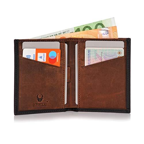 1055b93d39bdc Mini Portemonnaie für Herren und Damen – Slim Wallet – Geldbeutel klein mit  RFID Schutz – Donbolso Leder Geldbörse Bari