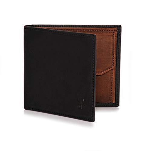 3202af3b40c72 Donbolso Herren Leder Geldbörse Sevilla - Geldbeutel mit RFID Schutz -  Dünnes Portemonnaie für Männer - Wallet klein mit Geheimfach